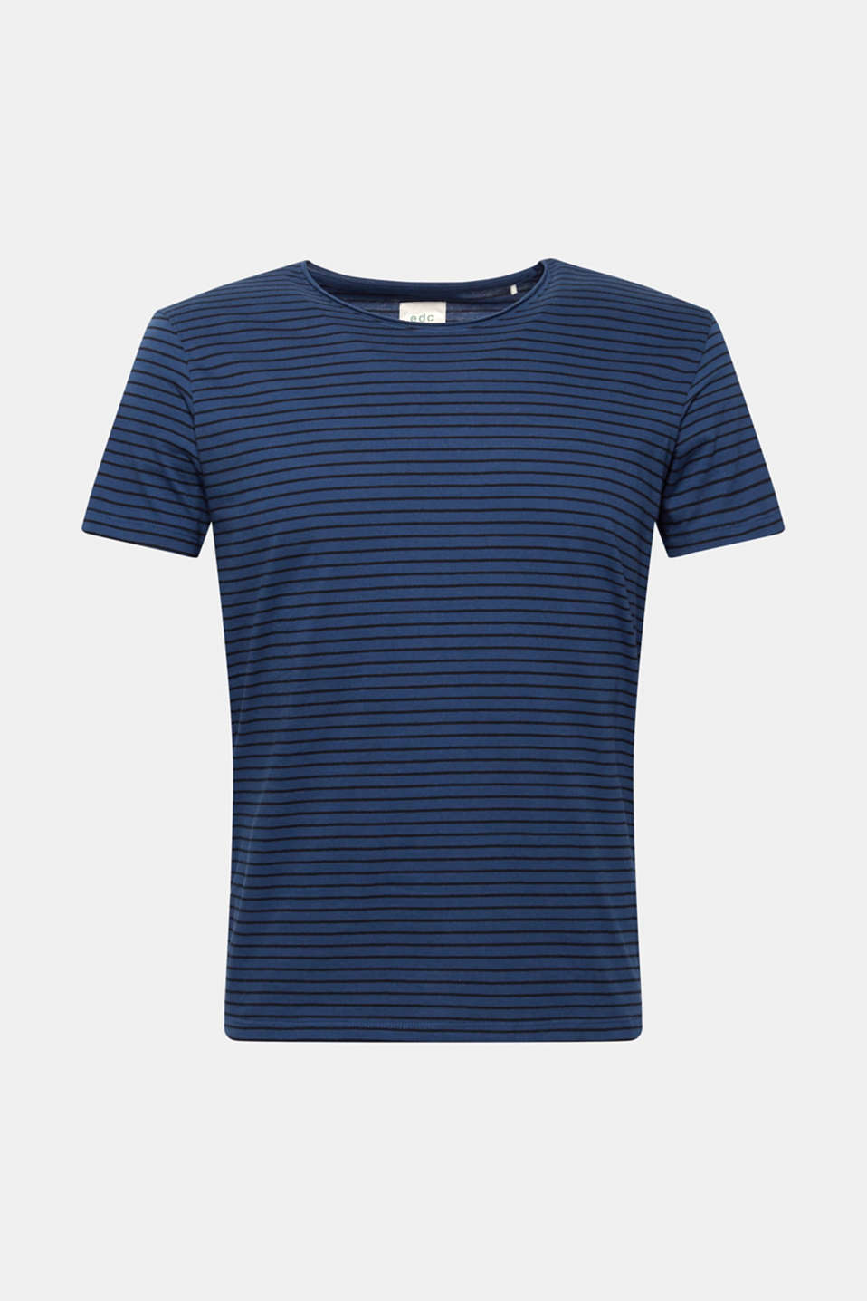 Jersey T-shirt with stripes, 100% cotton, BLUE, detail image number 5
