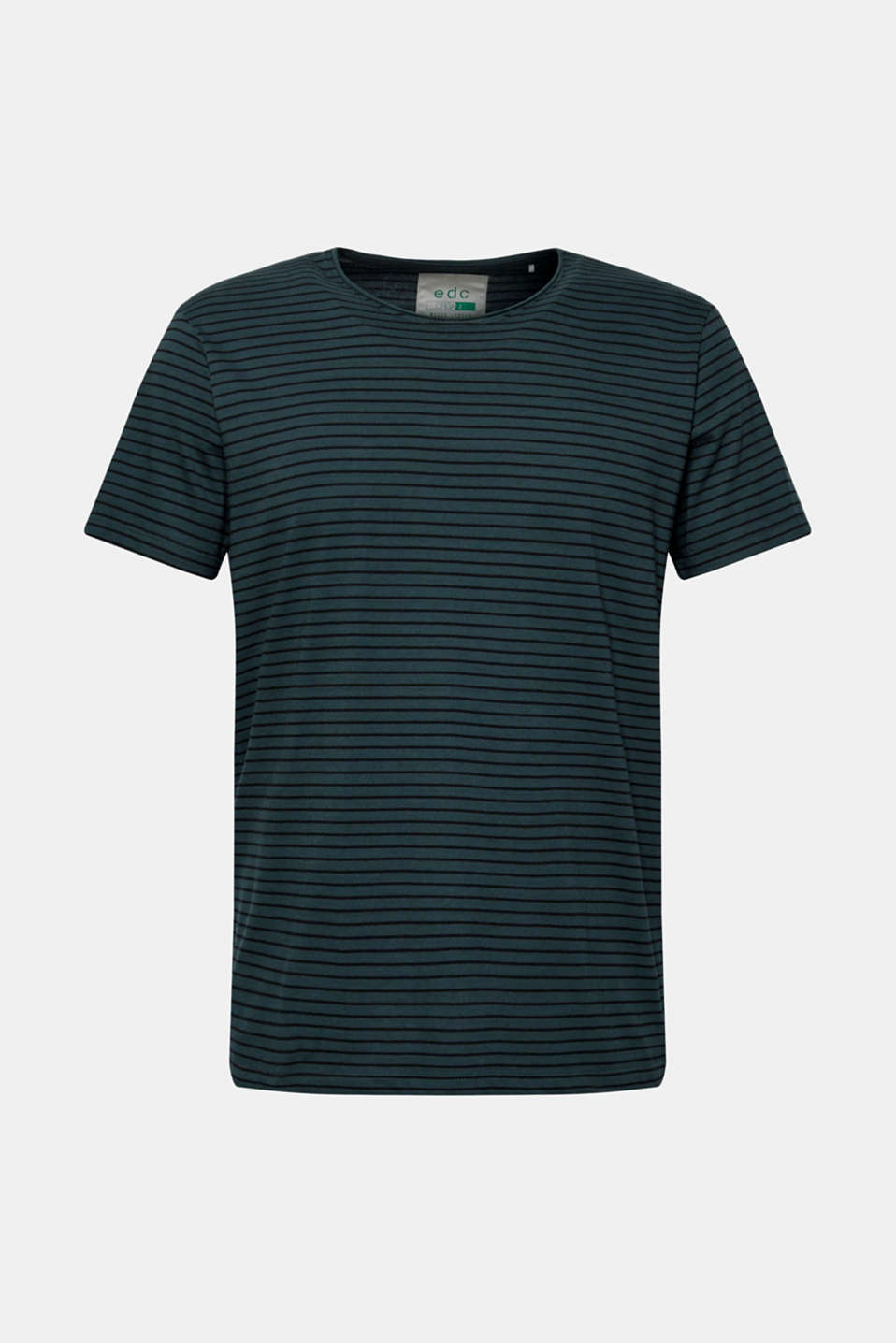 Jersey T-shirt with stripes, 100% cotton, TEAL BLUE, detail image number 6