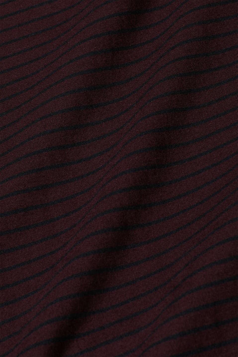 Jersey T-shirt with stripes, 100% cotton, PLUM RED, detail image number 5
