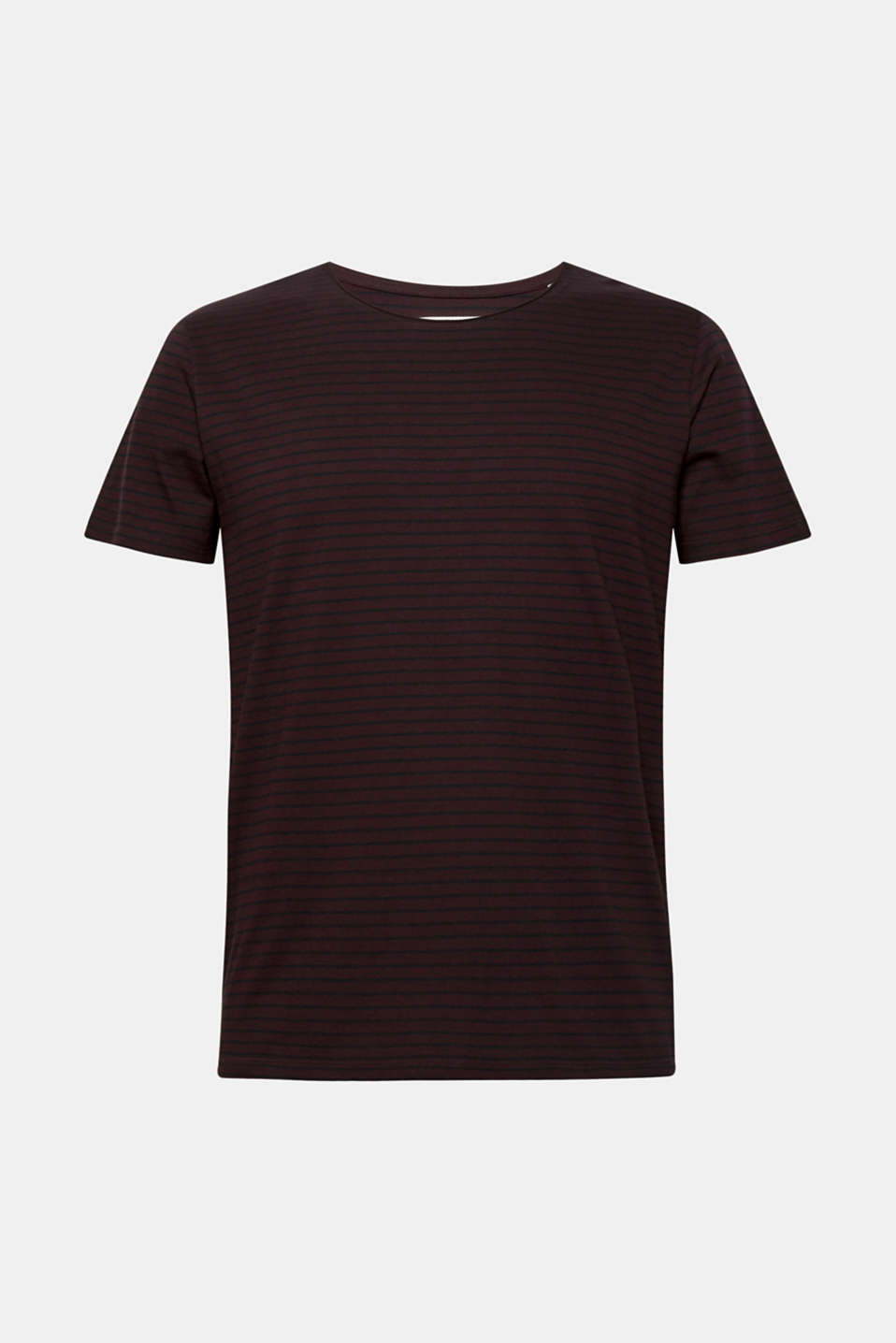 Jersey T-shirt with stripes, 100% cotton, PLUM RED, detail image number 6