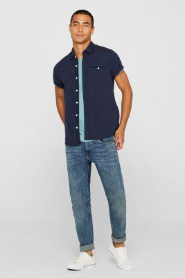 Slub jersey T-shirt in 100% cotton, DUSTY GREEN, detail