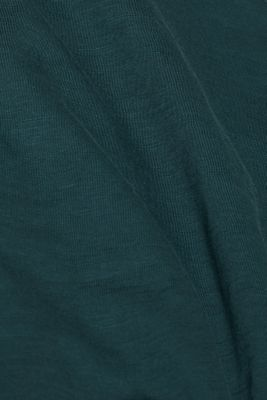 Slub jersey T-shirt in 100% cotton, TEAL BLUE, detail