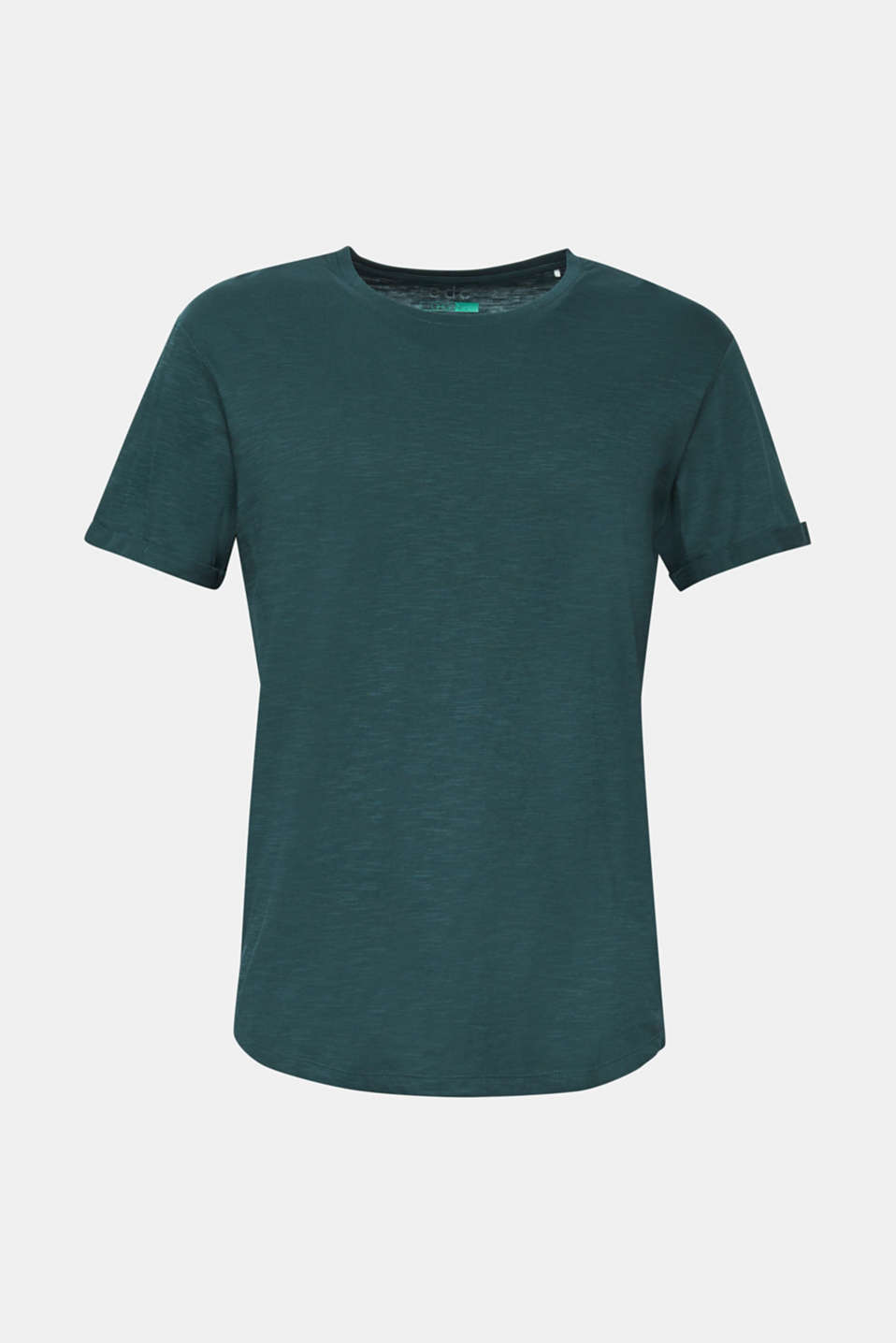 Slub jersey T-shirt in 100% cotton, TEAL BLUE, detail image number 6