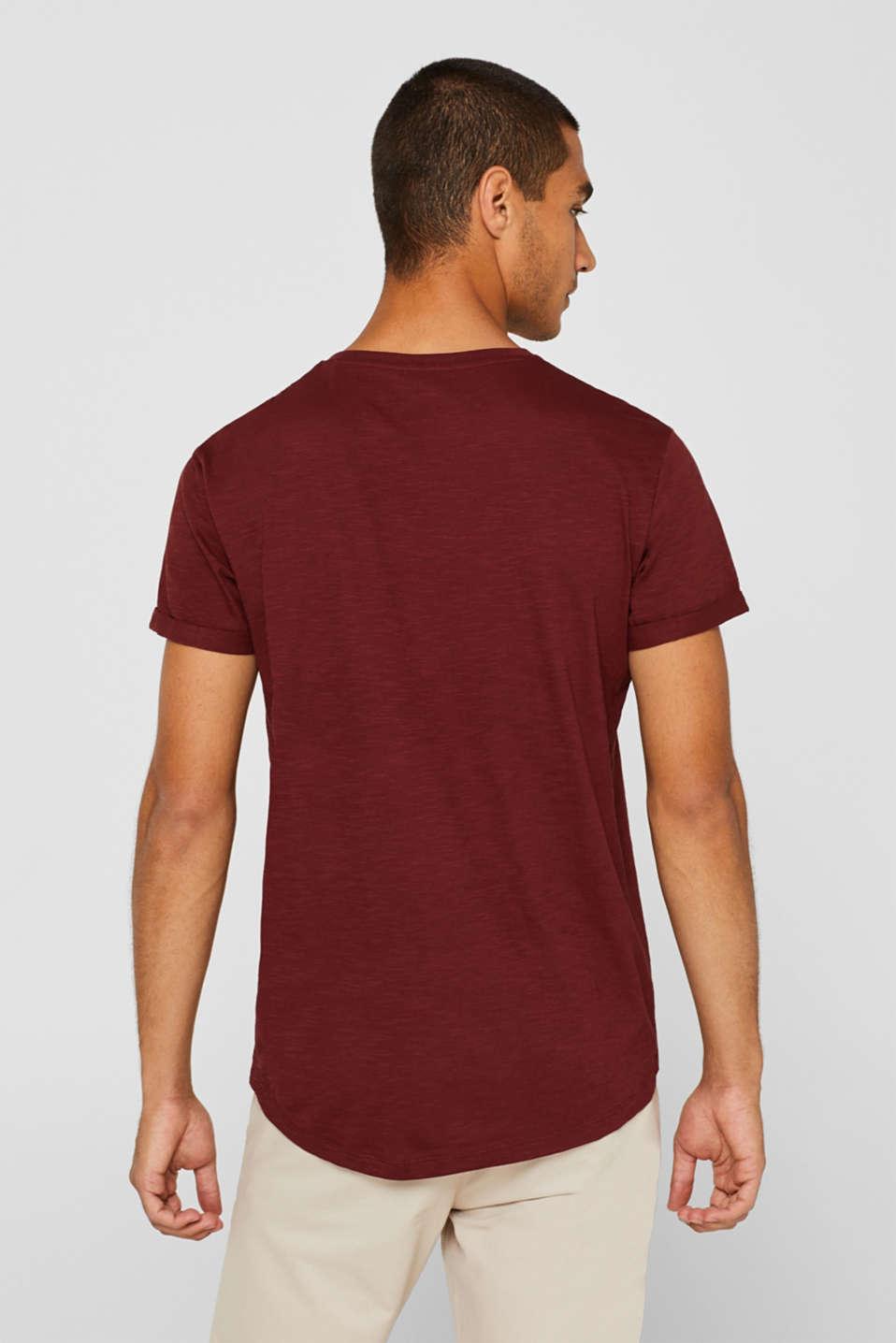 Slub jersey T-shirt in 100% cotton, TERRACOTTA, detail image number 3