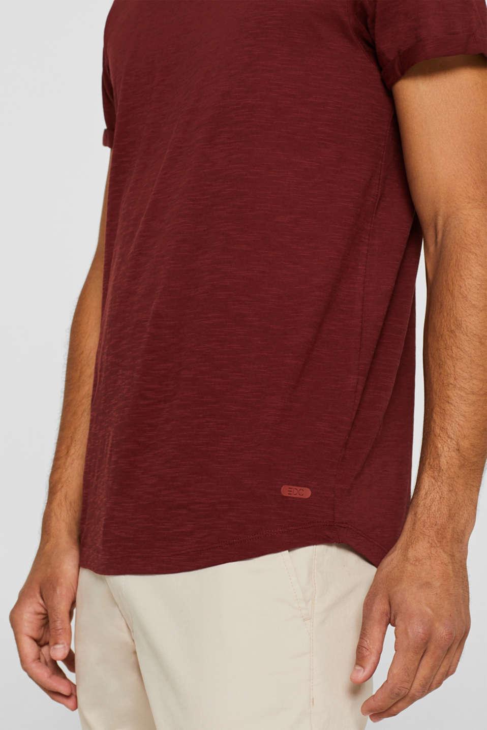 Slub jersey T-shirt in 100% cotton, TERRACOTTA, detail image number 1