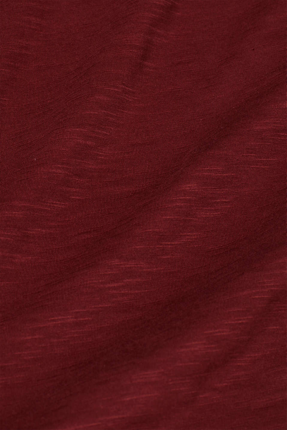 Slub jersey T-shirt in 100% cotton, TERRACOTTA, detail image number 4