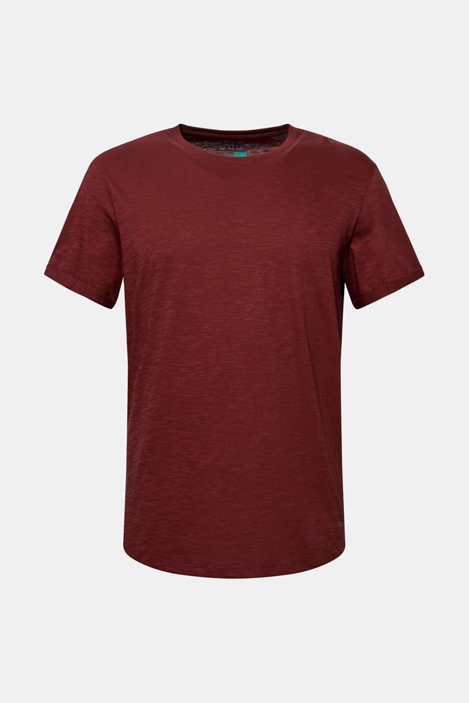 Slub jersey T-shirt in 100% cotton, TERRACOTTA, detail image number 5