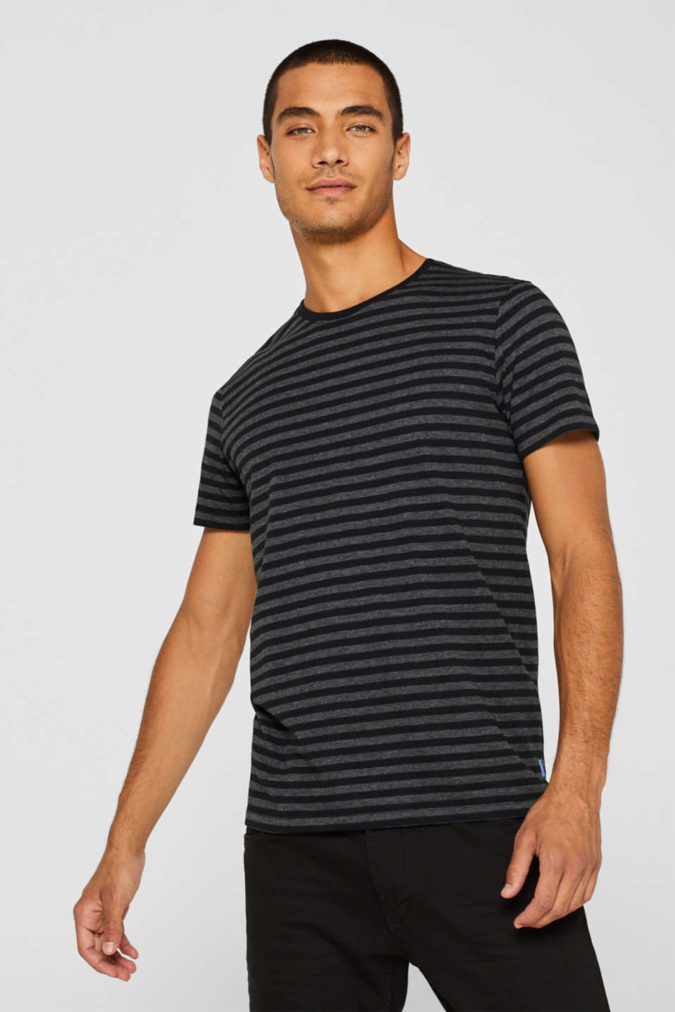 Striped jersey T-shirt, ANTHRACITE, detail image number 0