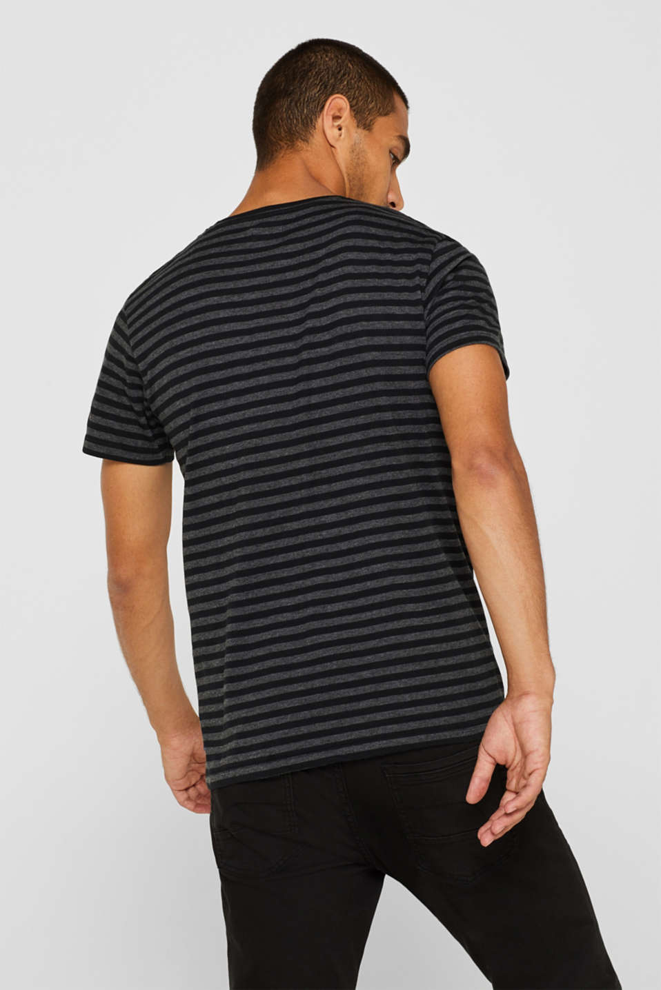 Striped jersey T-shirt, ANTHRACITE, detail image number 3