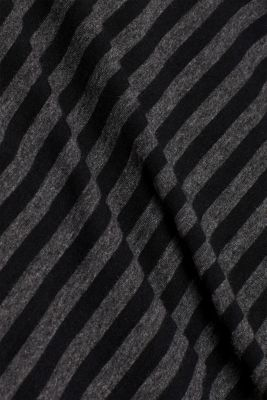 Striped jersey T-shirt, ANTHRACITE, detail