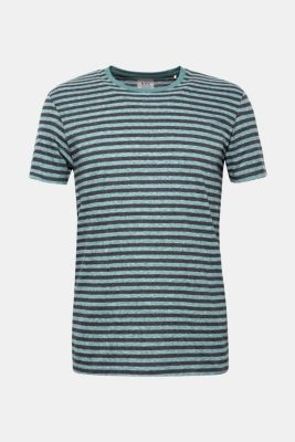 Striped jersey T-shirt, DUSTY GREEN, detail