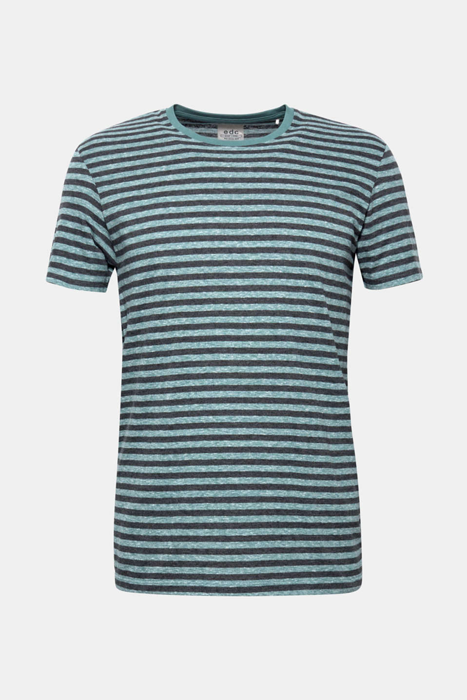 Striped jersey T-shirt, DUSTY GREEN, detail image number 5