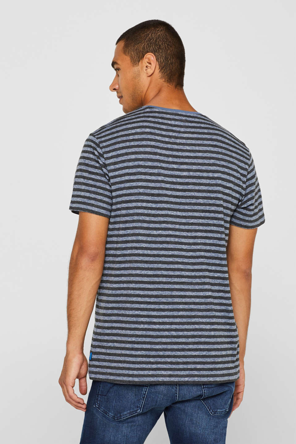 Striped jersey T-shirt, BLUE, detail image number 3