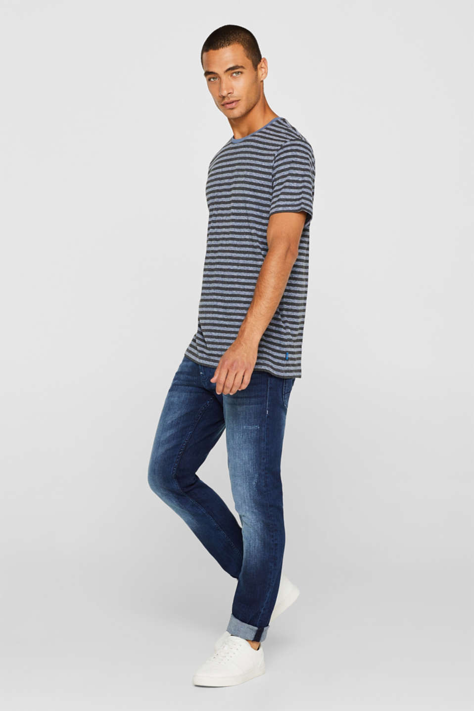 Striped jersey T-shirt, BLUE, detail image number 2