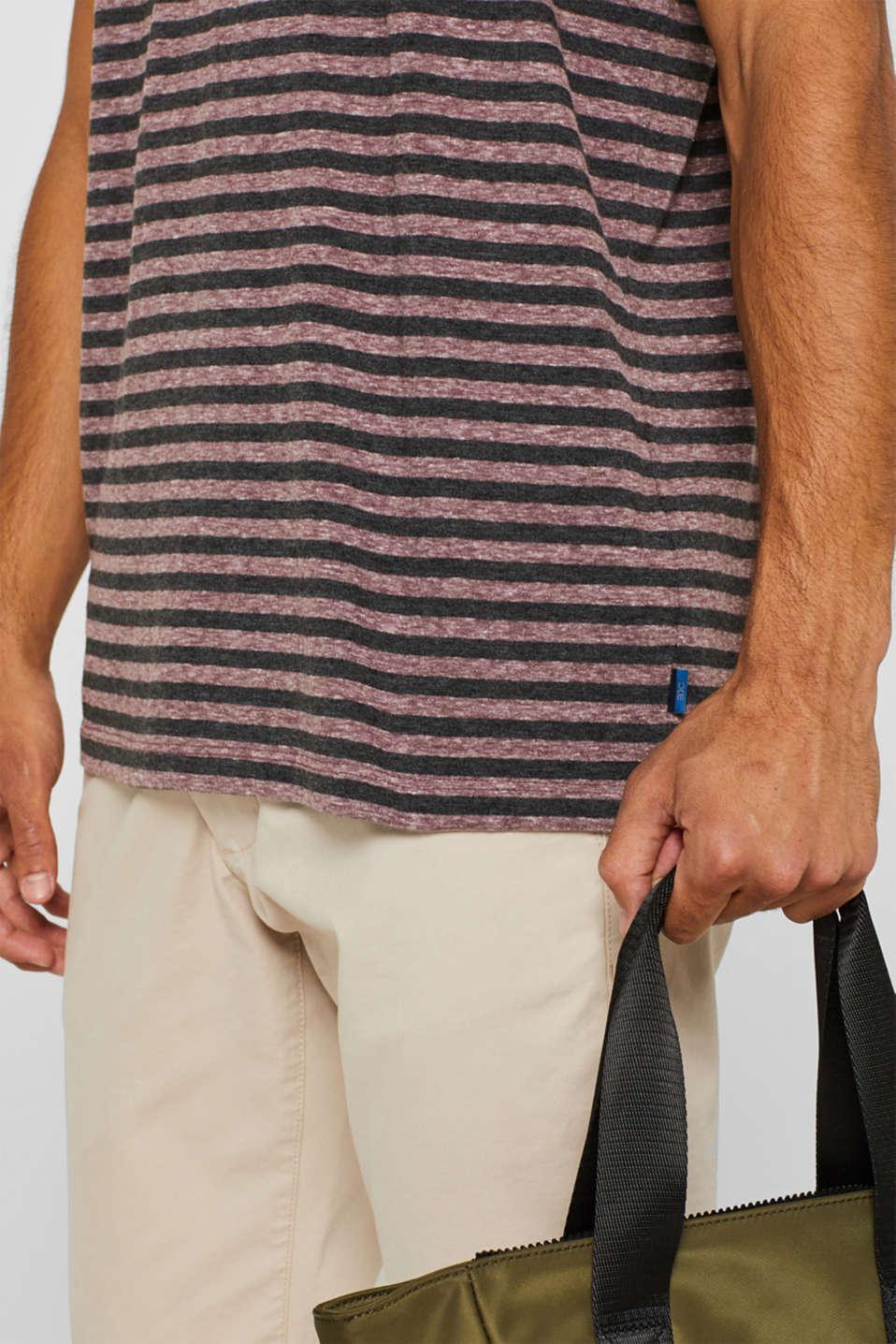 Striped jersey T-shirt, GARNET RED, detail image number 1