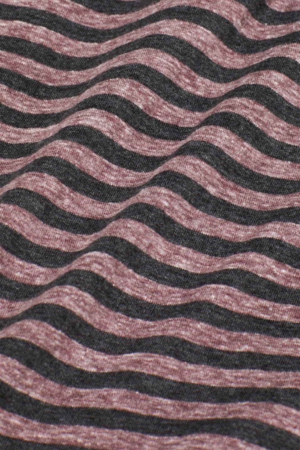 Striped jersey T-shirt, GARNET RED, detail image number 4