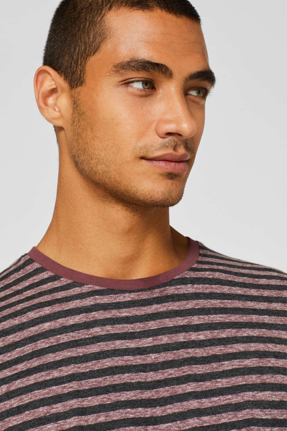 Striped jersey T-shirt, GARNET RED, detail image number 5