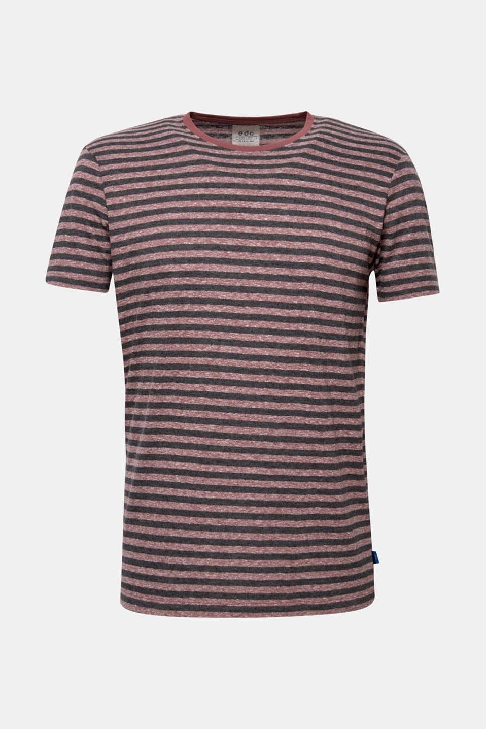 Striped jersey T-shirt, GARNET RED, detail image number 6