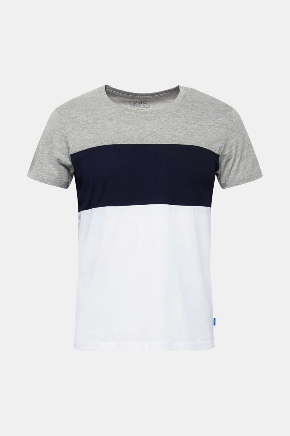 Jersey T-shirt with colour blocking, MEDIUM GREY, detail image number 7