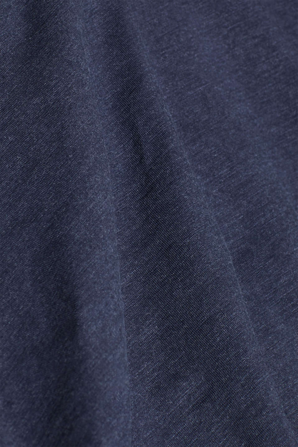 Long sleeve jersey top in blended cotton, NAVY, detail image number 5