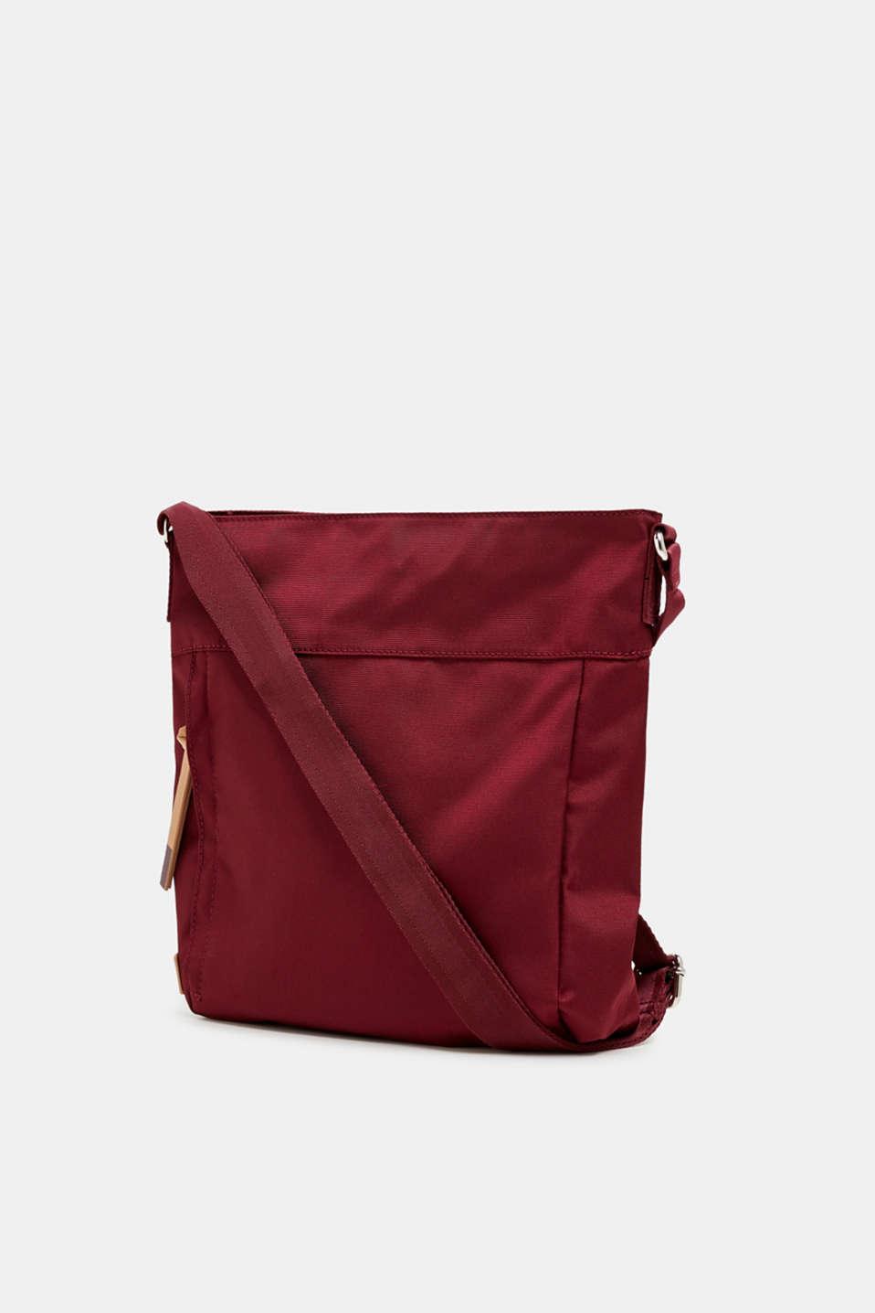 Nylon shoulder bag, BORDEAUX RED, detail image number 2