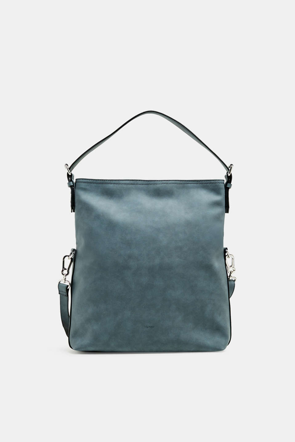Esprit - Flap-over bag in faux nubuck leather