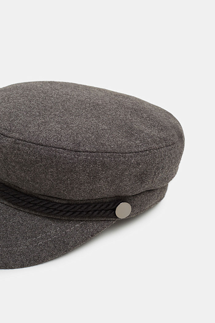 Melange wool-effect sailor's cap