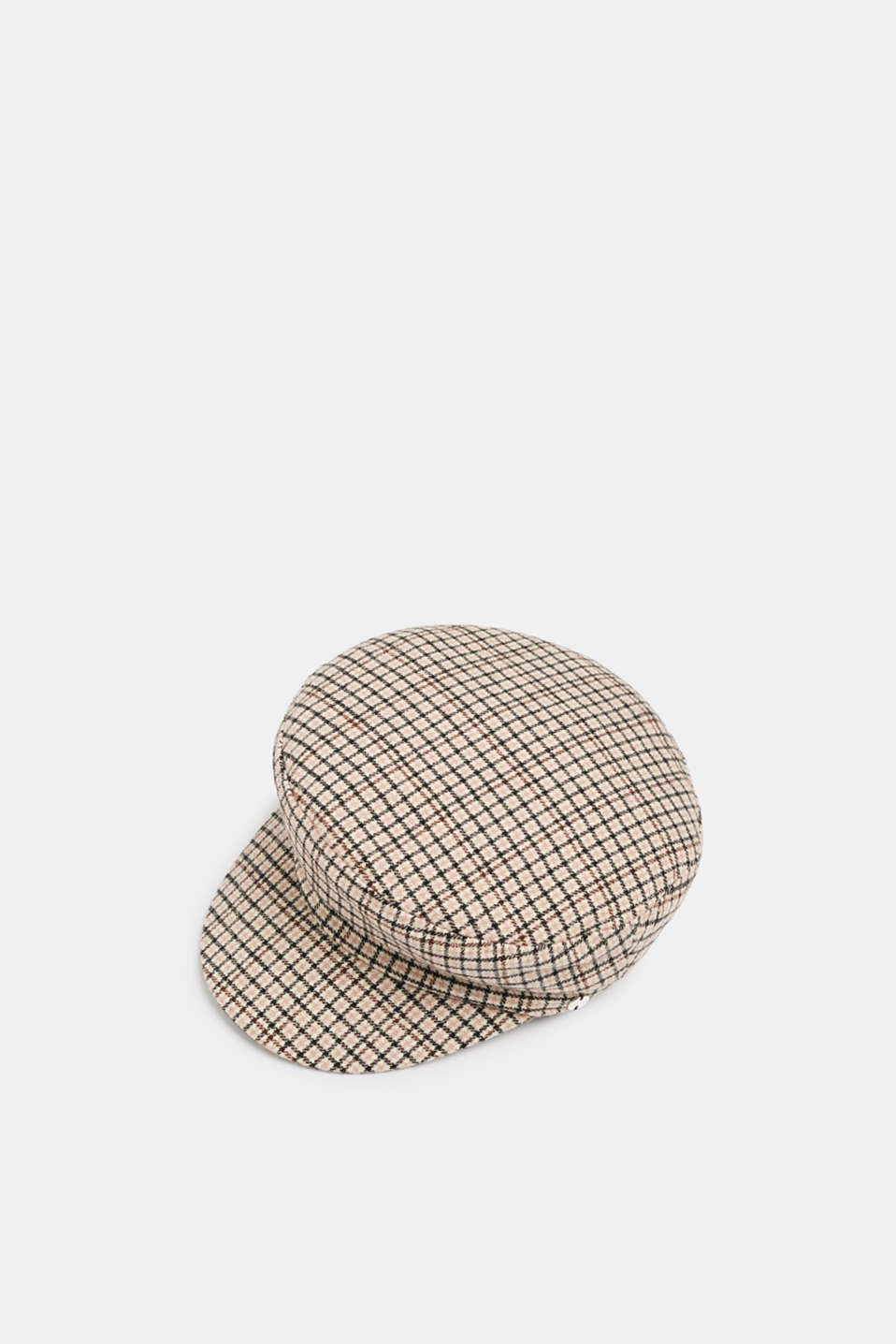 Checked sailor's cap, BEIGE, detail image number 0