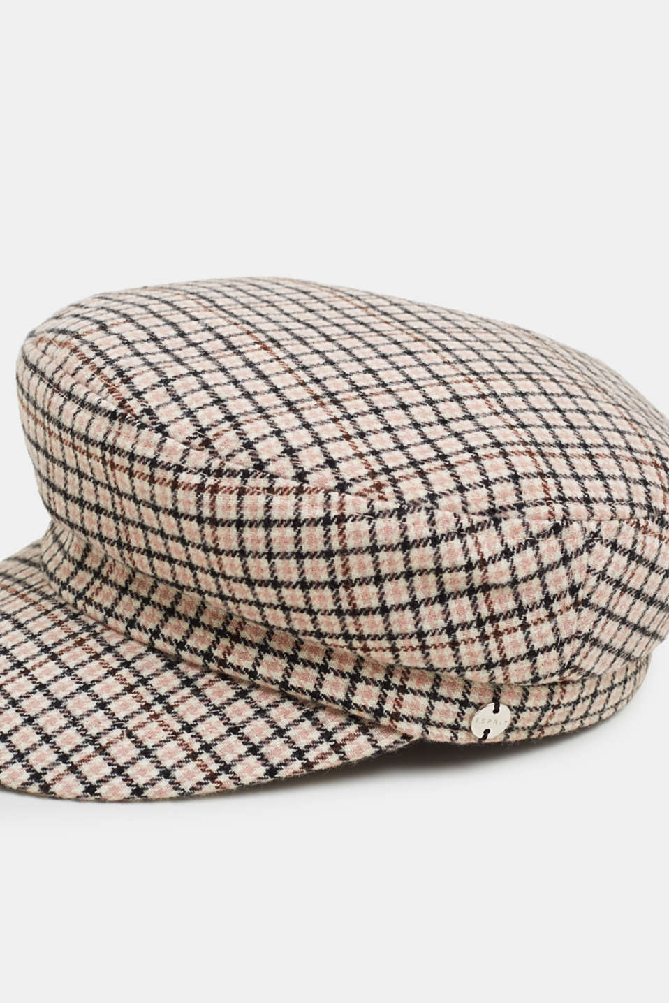 Checked sailor's cap, BEIGE, detail image number 1