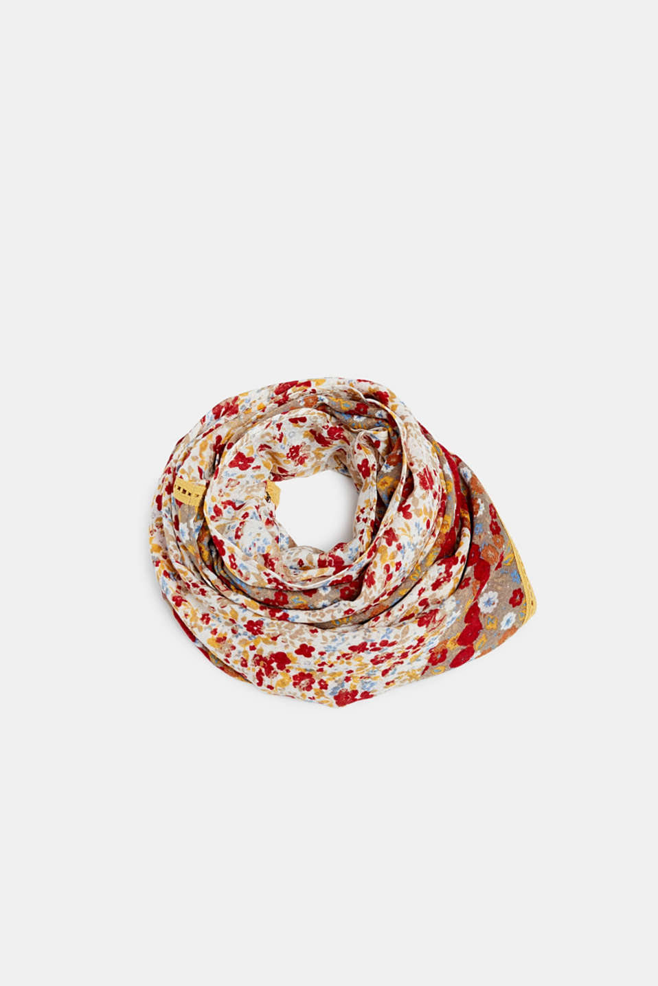 Esprit - Oversized scarf with a floral pattern