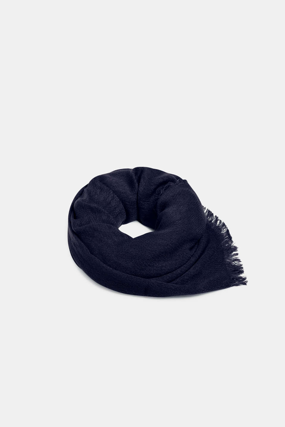 Esprit - Fringed woven scarf