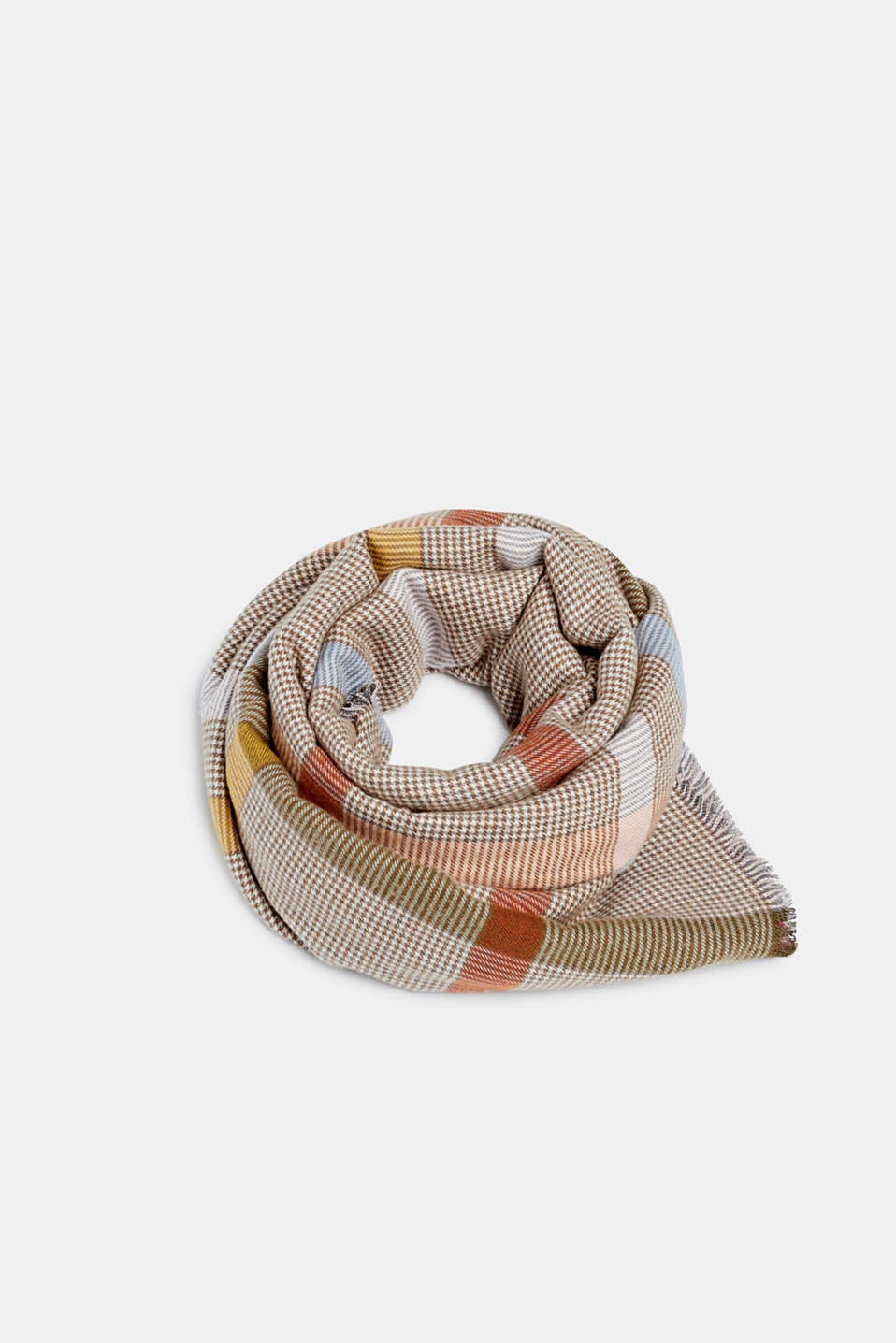 Scarf with LENZING™ ECOVERO™, BEIGE, detail image number 0