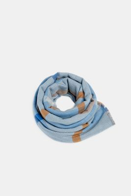 Scarf with LENZING™ ECOVERO™, LIGHT BLUE, detail