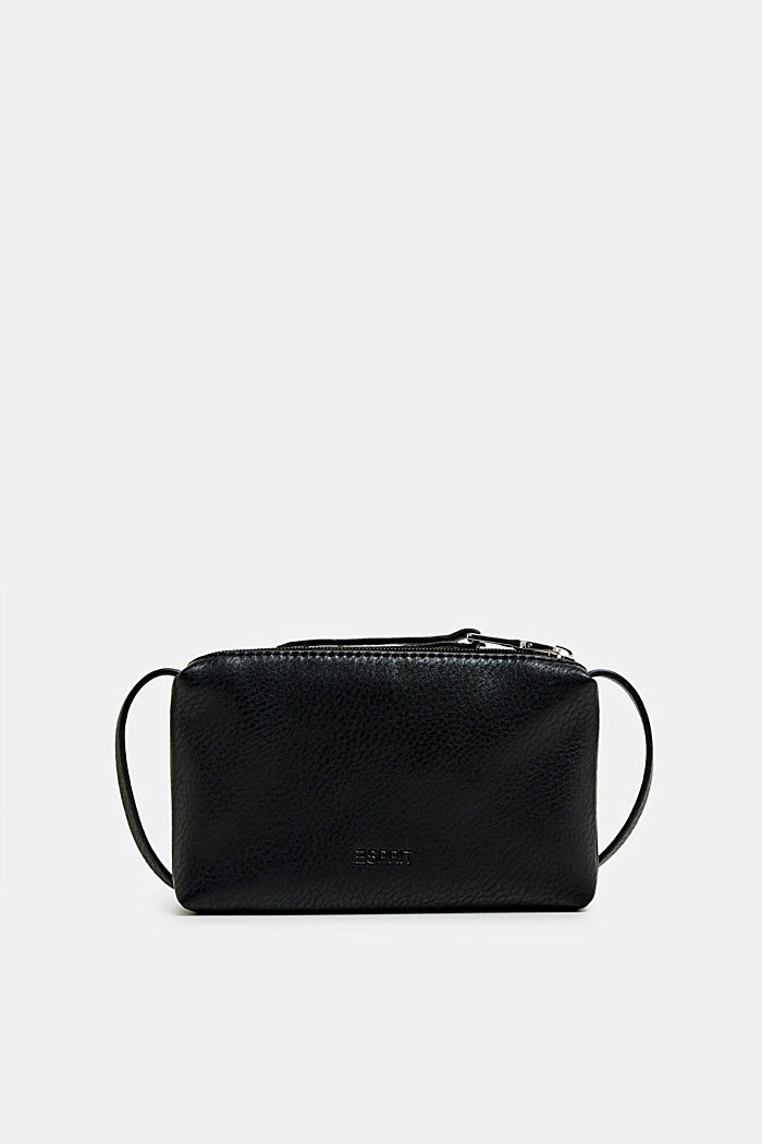 Piccola tasca con zip in similpelle, BLACK, detail image number 0