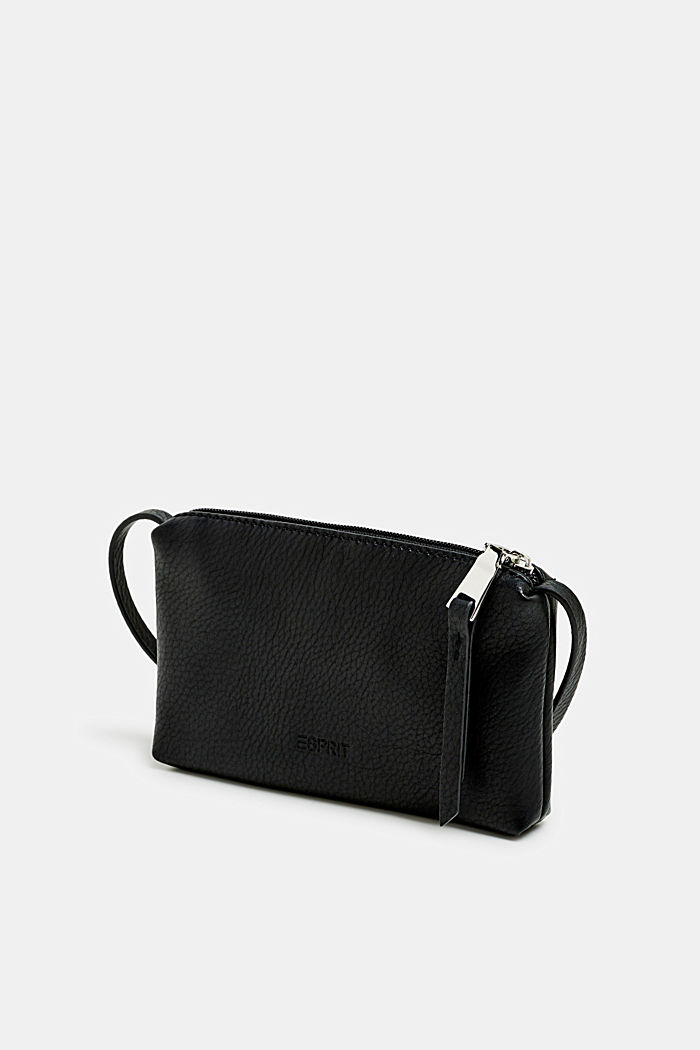 Piccola tasca con zip in similpelle, BLACK, detail image number 2