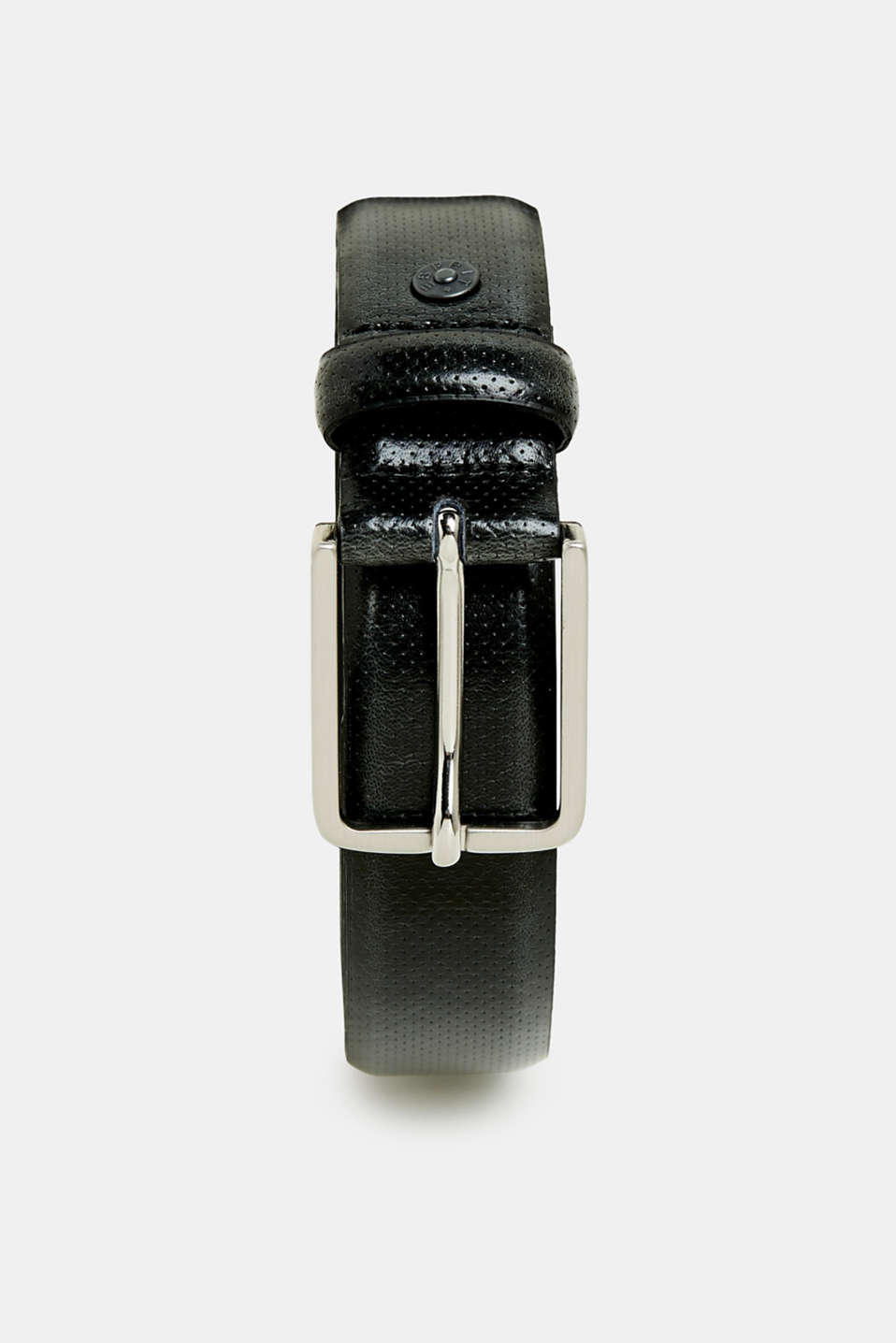 Esprit - Business belt with perforations, made of leather