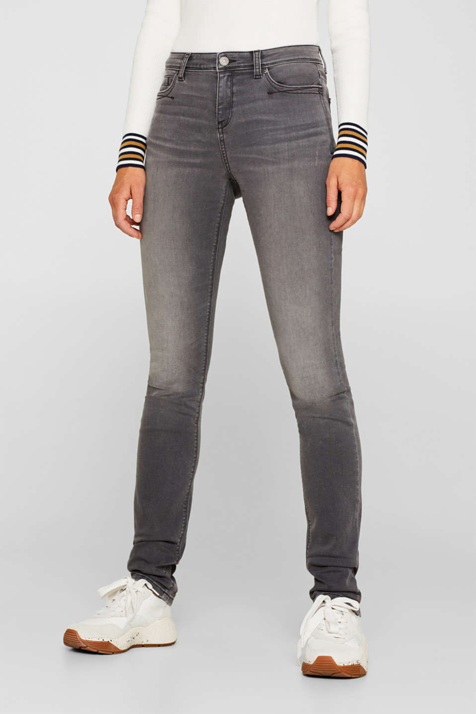 Tracksuit bottom jeans with super stretch, GREY MEDIUM WASH, detail image number 6