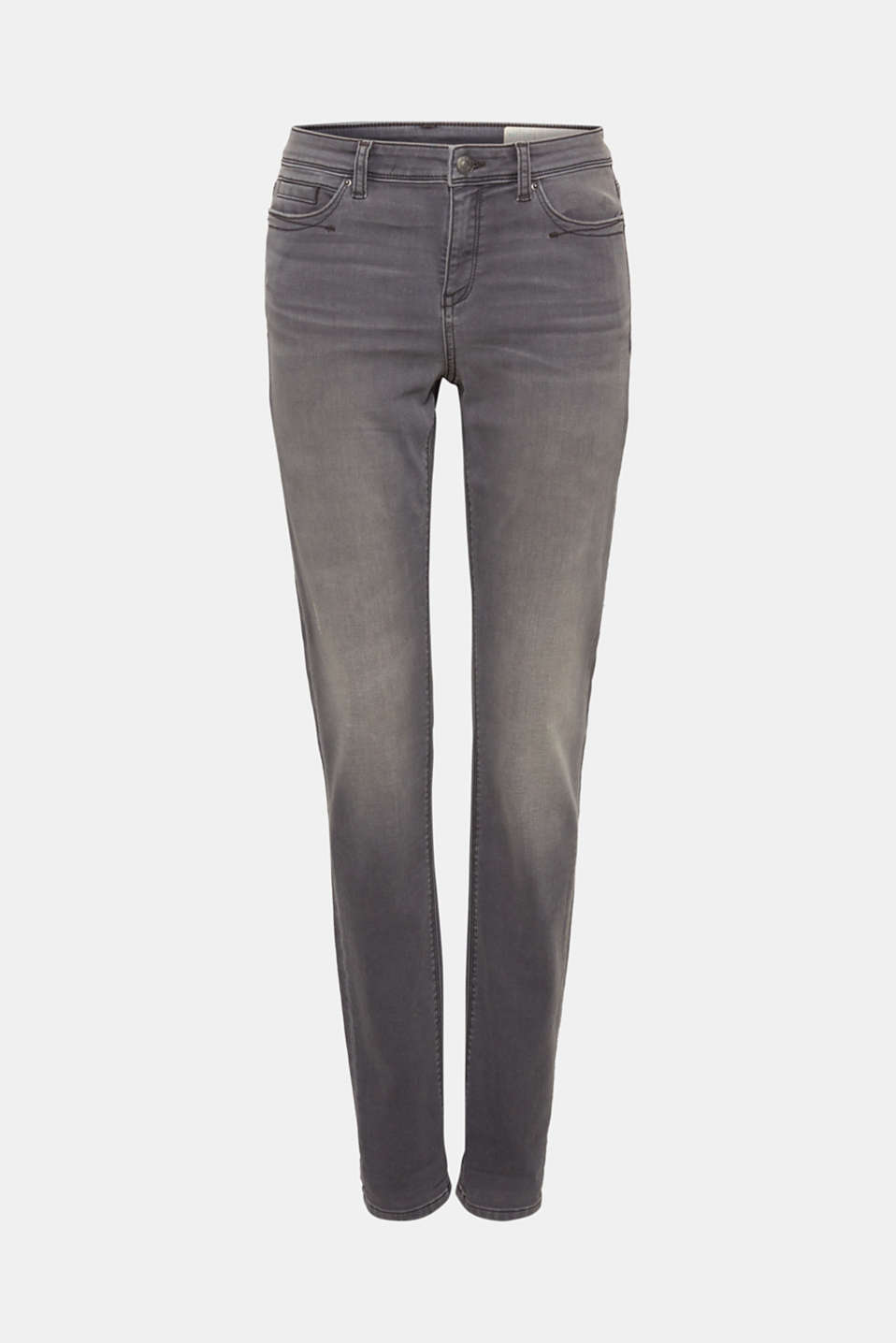 Tracksuit bottom jeans with super stretch, GREY MEDIUM WASH, detail image number 7