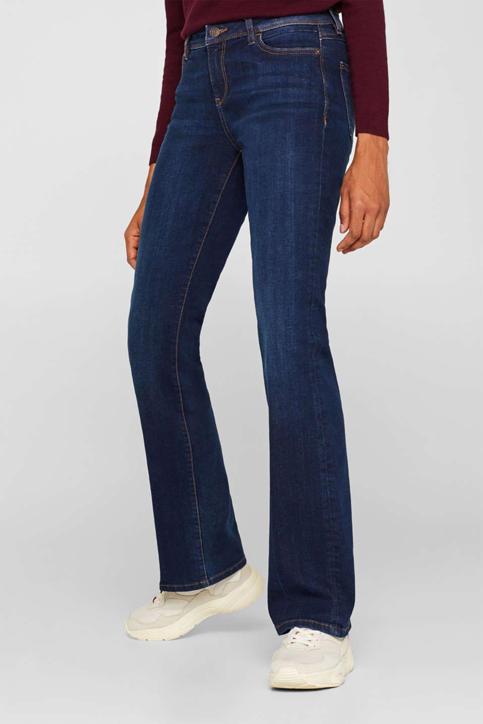 Stretch jeans containing organic cotton, BLUE DARK WASH, detail image number 5