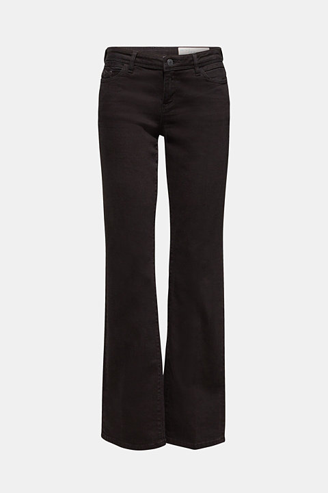 Stretch jeans with pressed pleats