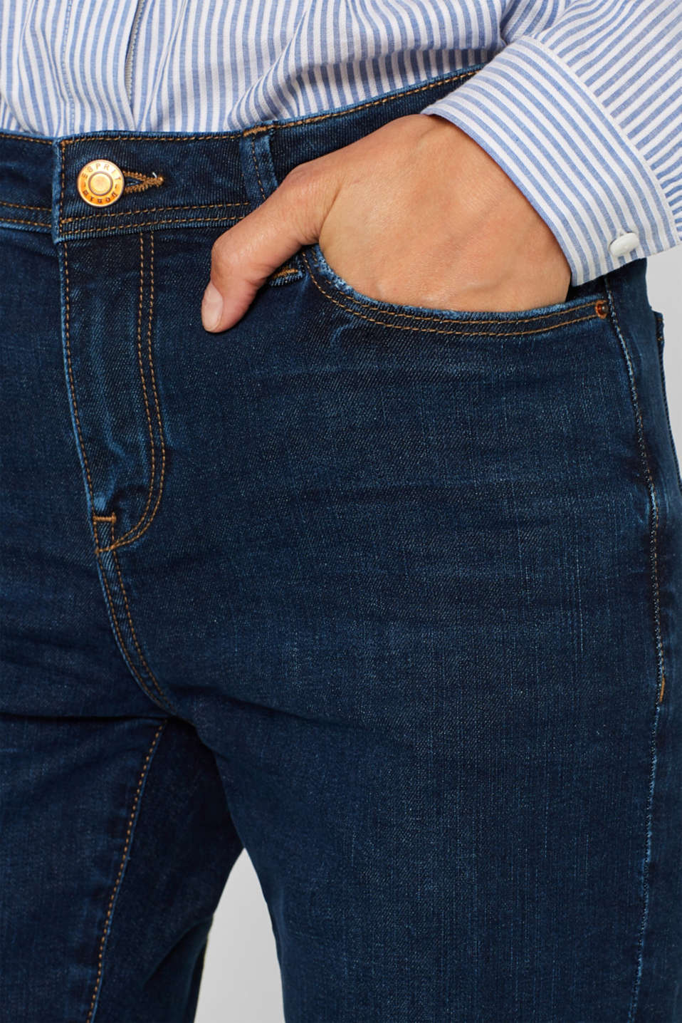 Stretch jeans, recycled, BLUE DARK WASH, detail image number 2