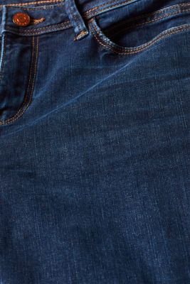 Stretch jeans, recycled, BLUE DARK WASH, detail