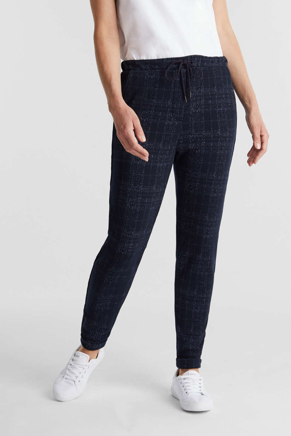 Esprit - PIPING mix + match broek in joggingstijl