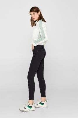 Super stretch jeans made of tracksuit fabric, BLACK, detail