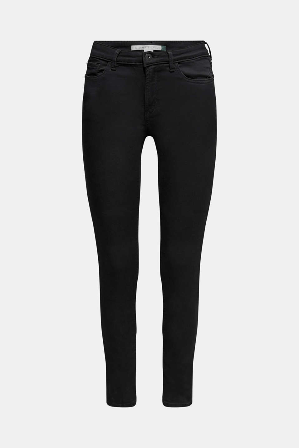 Super stretch jeans made of tracksuit fabric, BLACK, detail image number 7