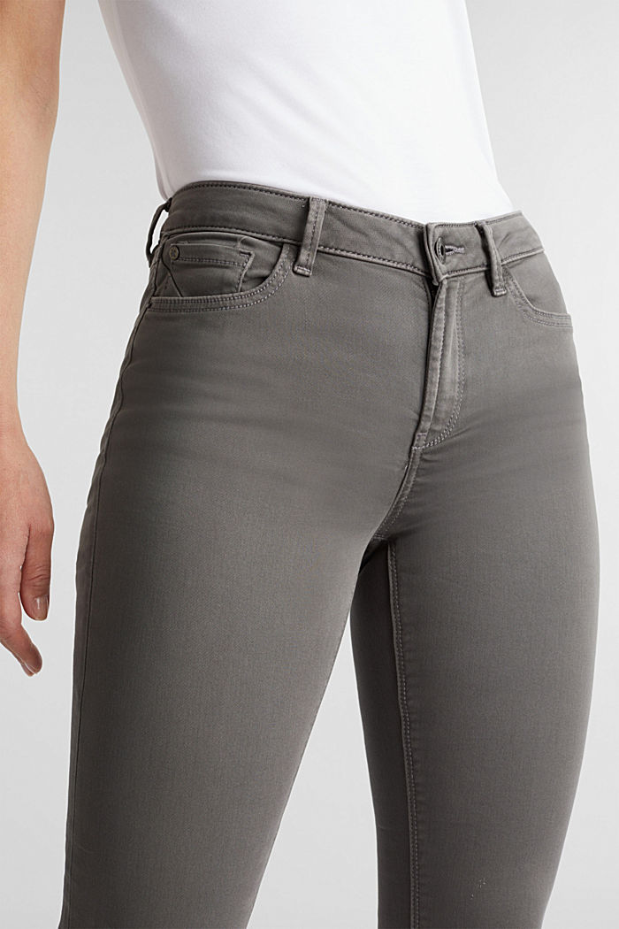 Super stretch jeans made of tracksuit fabric, GREY, detail image number 2