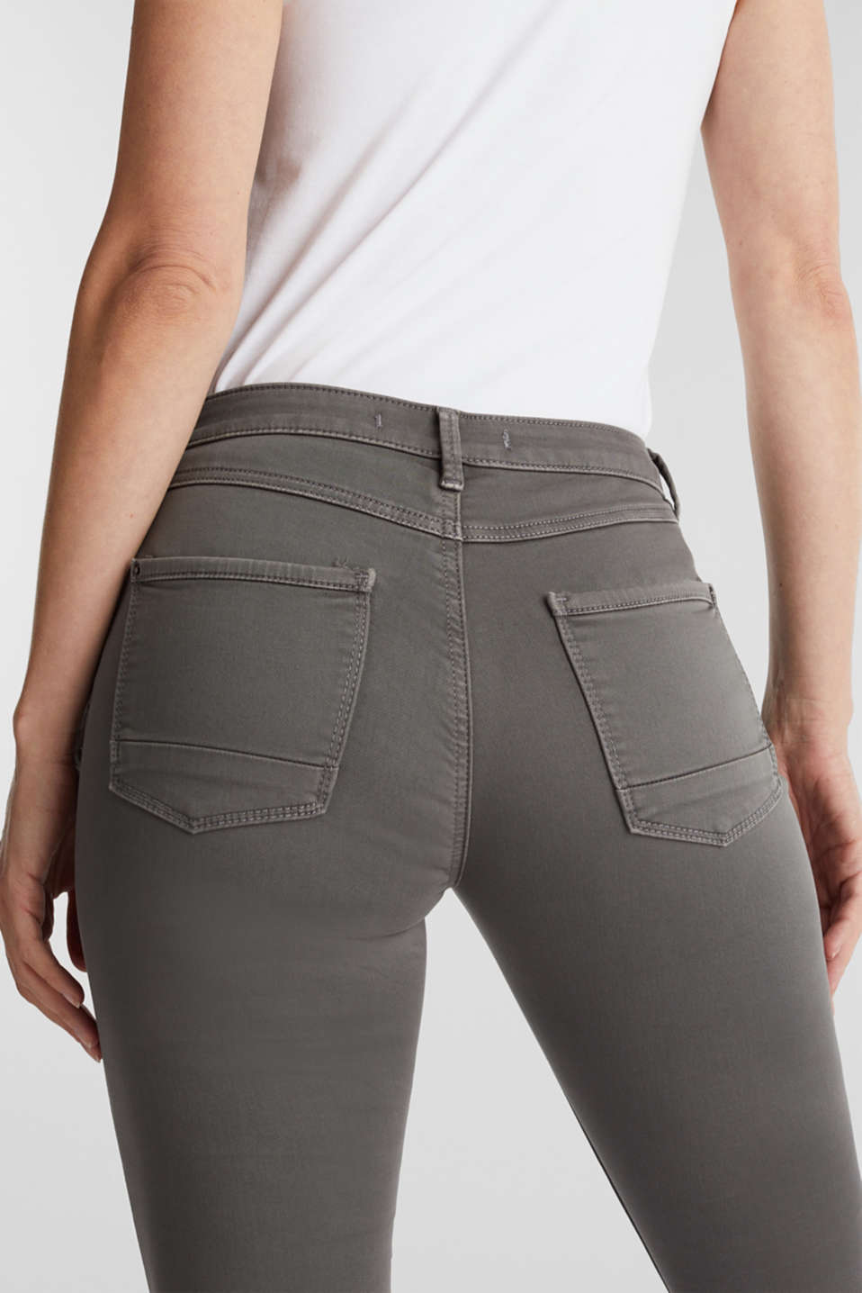 Super stretch jeans made of tracksuit fabric, GREY, detail image number 5