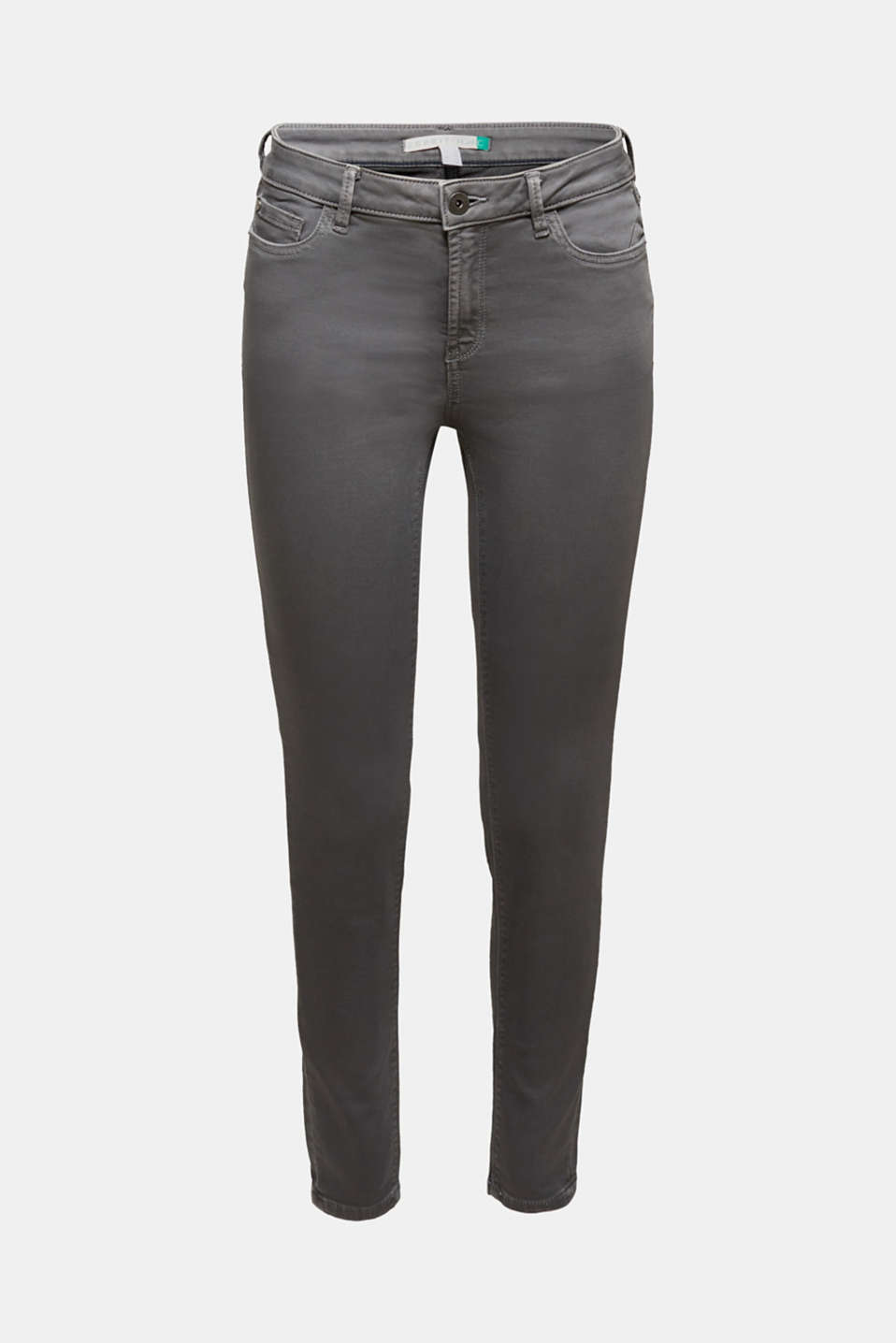 Super stretch jeans made of tracksuit fabric, GREY, detail image number 7
