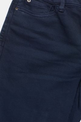 Super stretch jeans made of tracksuit fabric, NAVY, detail