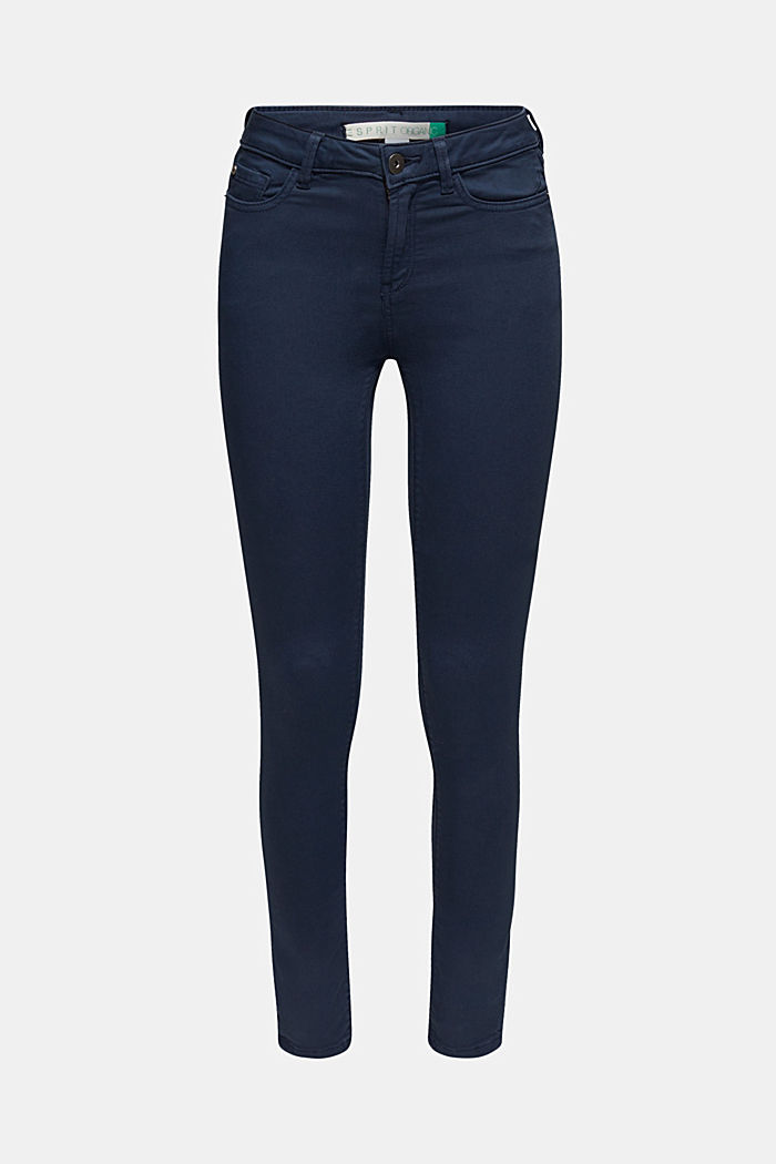 Super stretch jeans made of tracksuit fabric, NAVY, detail image number 0